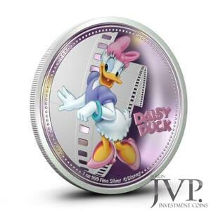 "Niue 2014 2$ Disney Mickey & Friends ""Daisy Duck"" 1 Oz Silver Proof Coin"
