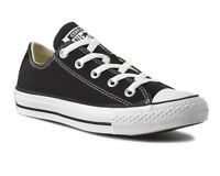 Mens Converse All Star OX M9166C Canvas Womens Trainers Black White Shoes