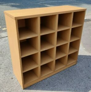 Pigeon Hole Wood 16 Shelf Shelving Unit FREE MANCHESTER DELIVERY