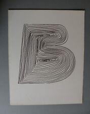 Mario Ceroli Riproduzione litografica certificata Bolaffi Arte Originale '70
