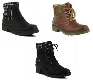 Womens Ankle Boots Water Resistant Spring Step Black Brown Shoes-8.5, 9, 9.5, 10