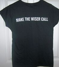 J.P. WISER'S WHISKY BLACK T-SHIRT MAKE THE WISER CALL LADIES SIZE SMALL
