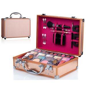 Square Makeup Kit Set Eyeshadow Palette Blush Lipstick Beauty cosmetic hand case