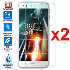 2Pcs 9H+ Premium Tempered Glass Film Screen Protector Cover For HTC Cell Phone