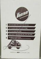1938 American Bantam 60 Cars & One Fourth Ton Trucks Sales Brochure Folder