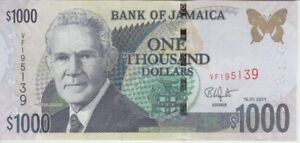 Jamaica  P86i 1,000 1.000 1000 Dollars 15.01.2011, UNC WE COMBINE