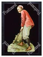Historic Spalding Sporting Goods- Golf Advertising Postcard