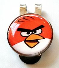 anneys - Combo golf ball marker & hat clip** angry bird red **