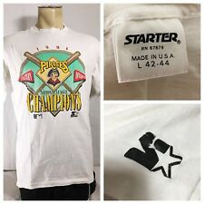Starter Pittsburgh Pirates Mens Large Vintage Short Sleeve T Shirt 1991 Champs