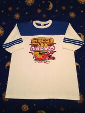 Vtg NOS racing t shirt ringer jersey style Street Rods sz XL '32 Ford Woody NSRA
