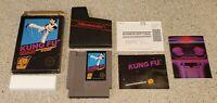 Kung Fu Nintendo NES Hang Tab Complete CIB Five 5 Screw w/ Box Poster Manual Lot