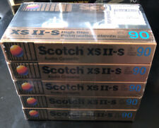 SCOTCH XS II-S 90 High Bias Type II Audio Cassette * 5 Pack NEW SEALED TAPES