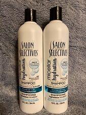 Salon Selectives Micellar Hydration Shampoo, Lot Of 2