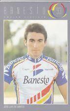 CYCLISME  carte cycliste JOSE LUIS DE SANTOS équipe BANESTO 1993