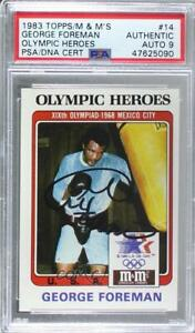 1984 M&M's Olympic Heroes George Foreman #14 PSA Authentic PSA/DNA Cert Auto