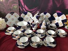 Early Victorian Gaudy Welsh/Dutch Extensive Tea Service