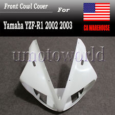 ABS Unpainted Front Cowl Cover Fairing Nose For Yamaha YZF R1 2002 2003 02 03