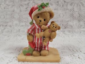 2011 Cherished Teddies Christmas Russell 4023743 What's That On the Rooftop?