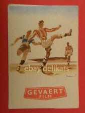 GEVAERT FILM cine films pellicole calcio busta negativi 1930 football