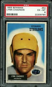 1955 Bowman #54 Lynn Chadnois PSA 6 EX-MT Pittsburgh Steelers