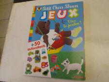 JEUX . petit ours brun 13..+ 50 autocollants  .. neuf..