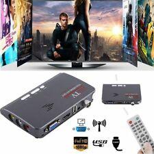 Satellite Receiver TV Box VGA/AV Tuner DVB-T DVB-T2 For LCD/CRT Monitors