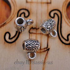 100pcs 6mm Charms connector pendant Diy Jewelry Necklace Tibetan Silver A7075