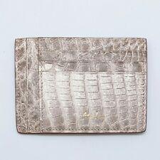 Handmade Himalayan Genuine crocodile skin credit card holder/wallet/ID Badge