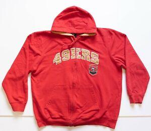 San Francisco 49ers Sweatshirt Men's XL Red Full Zip Hoodie NFL Football Niners