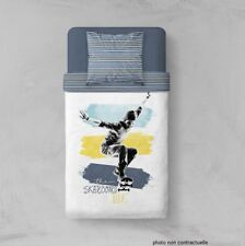 Parure Housse de couette en polyester 140X200 cm Life on skateboard