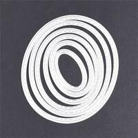 6X Oval Cutting Dies Stencil DIY Scrapbooking Album Set Paper Craft Card Em V2C6