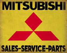 MITSUBISHI SERVICE VINTAGE GARAGE ADVERTISING PLAQUE METAL TIN SIGN POSTER