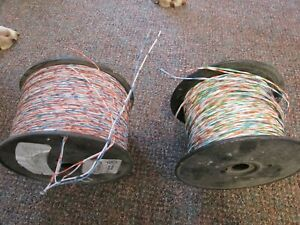 2 rolls of telecom cross wire  24 gauge