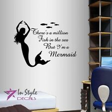 Vinyl Decal There's Million Fish in Sea But I'm Mermaid Phrase Girl Nymph 779