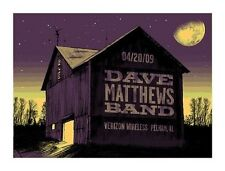 Dave Matthews Band Poster 09 Pelham AL Barn Signed & Numbered #/500 Rare!!