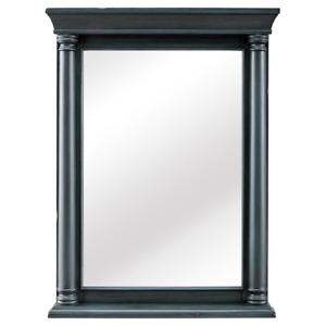 24 in. W x 32 in. H Framed Rectangular  Bathroom Vanity Mirror in Distressed Blu