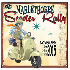MABLETHORPE 2015 PATCH RALLY RUN  MODS SKINHEADS END OF YEAR SCOOTER RALLY PATCH