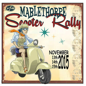 MABLETHORPE 2015 PATCH RALLY RUN  MODS SKINHEADS BSRA SCOOTER RALLY PATCH