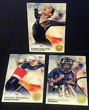 2014 Topps U.S. Olympic Team LOT of ( 3 ) GOLD RAINBOW Parallel SP Cards RARE