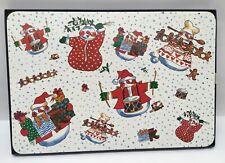 Pennyroyal Christmas Snowmen Cork Back Placemat Set of 4