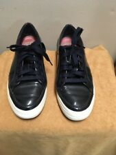 FitFlop Sporty Women's Sz 8 navy patent leather Sneakers Shoes EUC,