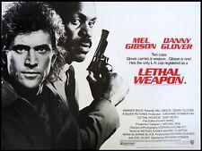 LETHAL WEAPON  repro Uk quad cinema poster 30x40 MEL GIBSON FREE P&P