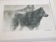 Wolf Pair In Winter by Robert Bateman #117/290 rare print