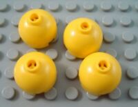 New LEGO Lot of 4 Yellow 2x2 Round Dome Top Bricks