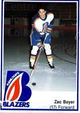 1989-90 Kamloops Blazers #4 Zac Boyer