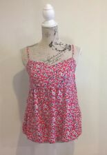 COCO LATTE - Women's Baby Doll Top - Red Floral - Size 14 - Adjustable Straps