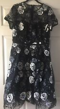 With Tags Ladies Black Evening Dress Size 20