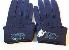 vintage Luxury Womens gloves by Crescendoe Navy Blue Size 6