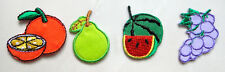 Lot of 4 Cute Pretty Mix Fruits Small Embroidered Iron on Patches Free Postage