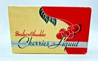 Vintage Chocolate Box Smiles and Chuckles Maraschino Cherries in Liquid Box ONLY